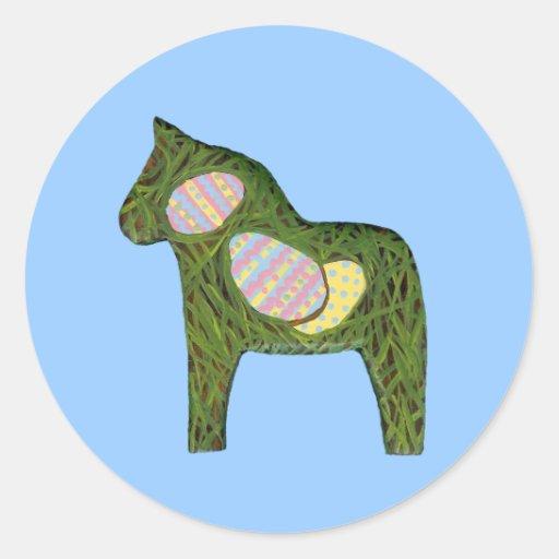 Pegatina del caballo de Pascua Dala