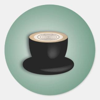 pegatina del café del Cappuccino 3D