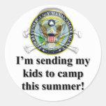 Pegatina del campamento de verano de los niños