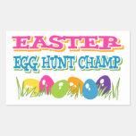 Pegatina del campeón de la caza del huevo de