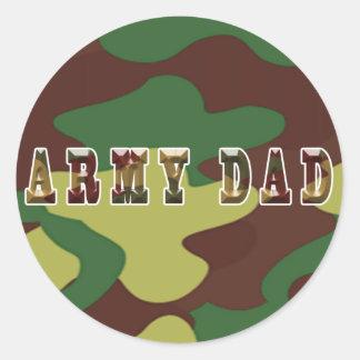 Pegatina del camuflaje del papá del ejército