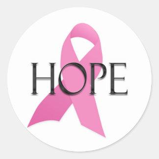 Pegatina del cáncer de pecho de la esperanza