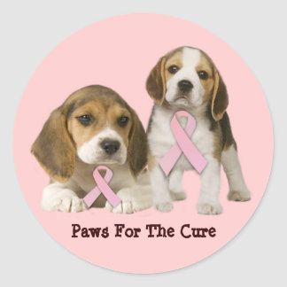 Pegatina del cáncer de pecho del beagle