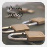 Pegatina del candado del 28:22 de los proverbios