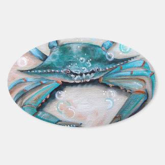 Pegatina del cangrejo azul