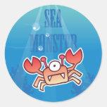 Pegatina del cangrejo del monstruo de mar