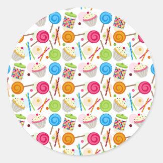Pegatina del caramelo y del sello del sobre del