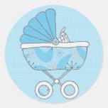 Pegatina del carro de bebé azul