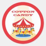 Pegatina del carrusel del carnaval del circo