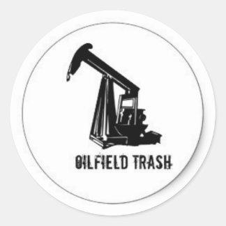 Pegatina del casco de la basura del campo petrolíf