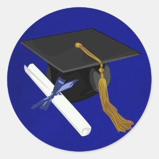 Pegatina del casquillo de la graduación