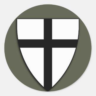 Pegatina del casquillo del alcance, escudo