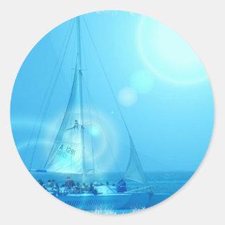 Pegatina del catamarán de la navegación