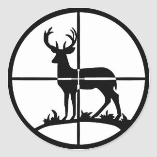 Pegatina del cazador de los ciervos
