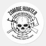 Pegatina del cazador del zombi