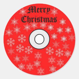 Pegatina del CD de las Felices Navidad