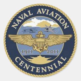 Pegatina del Centennial de la aviación naval