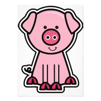 Pegatina del cerdo del bebé