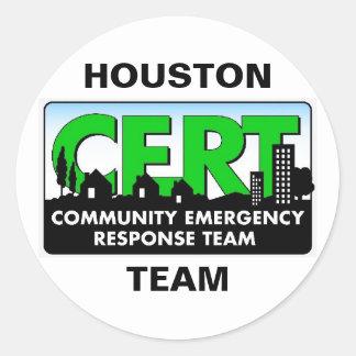 Pegatina del CERT de Houston