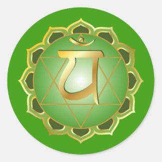 pegatina del chakra del anahata o del corazón