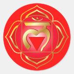 pegatina del chakra del muladhara o de la raíz