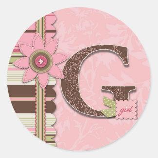 Pegatina del chica de G