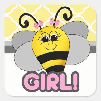 Pegatina del chica de la abeja de Cutie