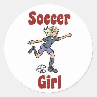 Pegatina del chica del fútbol