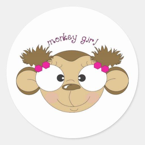 Pegatina del chica del mono