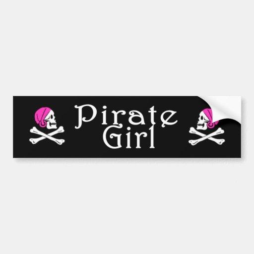 Pegatina del chica del pirata pegatina de parachoque