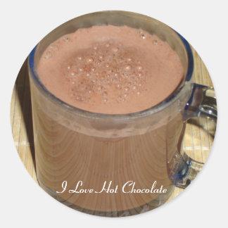 Pegatina del chocolate caliente