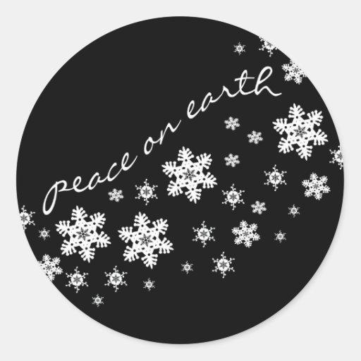 Pegatina del cierre del sobre del navidad negro y