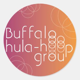 Pegatina del círculo del grupo del Hula-Aro del