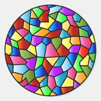 Pegatina del círculo del vitral