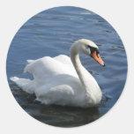 Pegatina del cisne mudo