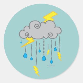 Pegatina del clima tempestuoso