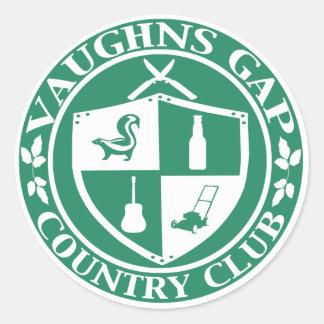 Pegatina del club de campo de Vaughns Gap