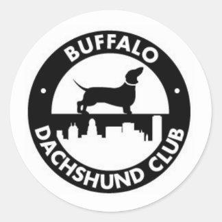 Pegatina del club del Dachshund del búfalo