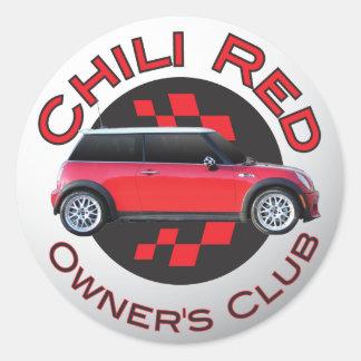 Pegatina del club del dueño rojo del chile