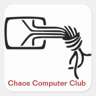 Pegatina del club del ordenador del caos