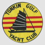 Pegatina del club náutico del golfo de Tonkin