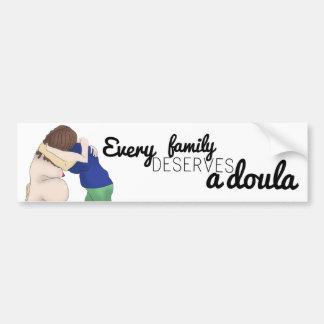 Pegatina del coche - cada familia merece un doula pegatina para auto