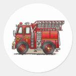 Pegatina del coche de bomberos de la escalera