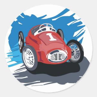 Pegatina del coche de carreras