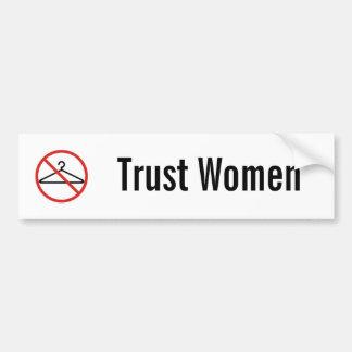 Pegatina del coche de las mujeres de la confianza etiqueta de parachoque