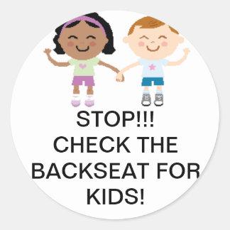 Pegatina del coche de seguridad del niño