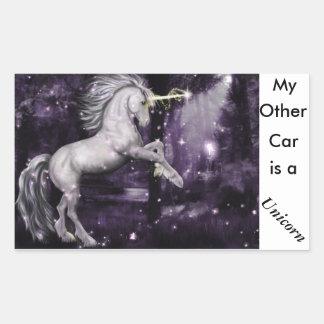 Pegatina del coche del unicornio