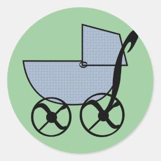 Pegatina del cochecillo de bebé azul