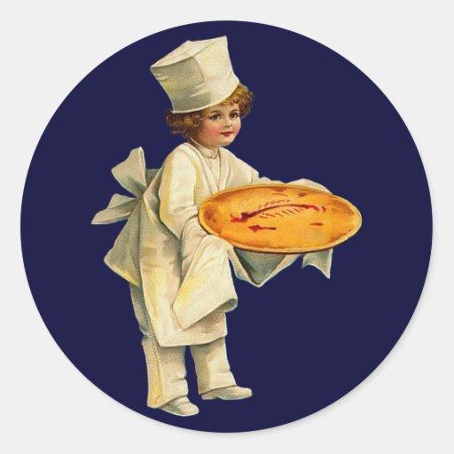 Pegatina del cocinero del vintage