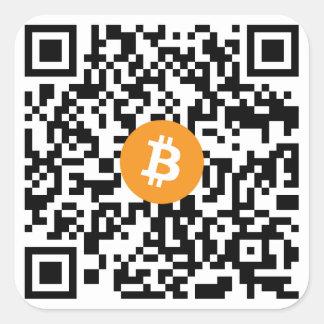 Pegatina del código de Bitcoin QR pequeño (hoja de